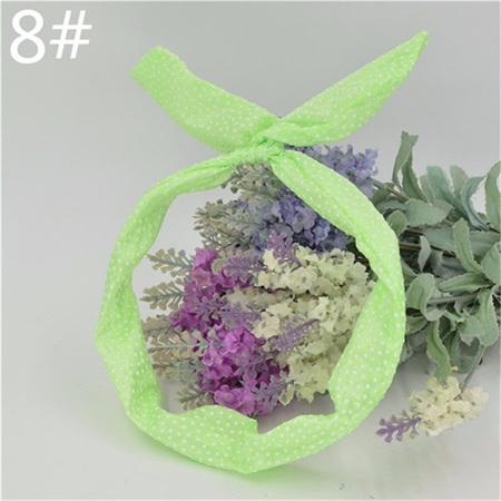 Scarf Headband - Green Small Spots  No. 8