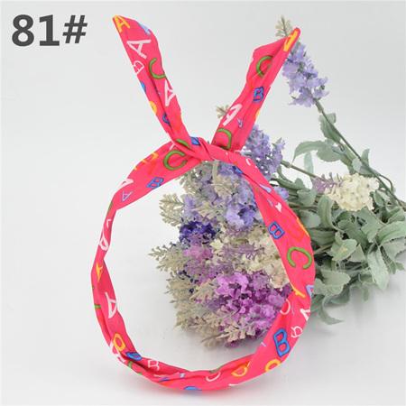Scarf Headband - HOT PINK ABC No. 81
