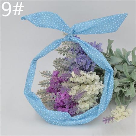Scarf Headband - Light Blue Small Spots  No. 9