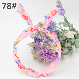 Scarf Headband - LIGHT PINK ABC  No. 78