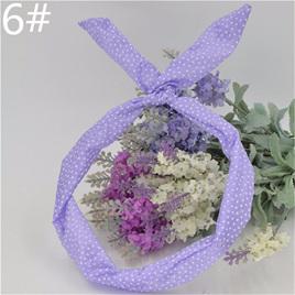 Scarf Headband - Light Purple Small Spots  No. 6
