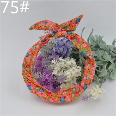 Scarf Headband - Pink  Floral  No. 75