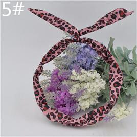 Scarf Headband - Pink Leopard Print No. 5