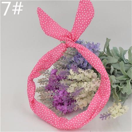 Scarf Headband - Pink Small Spots  No. 7