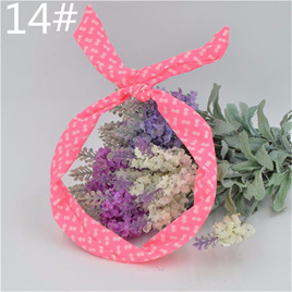 Scarf Headband - Pink with Double White Spots  No. 14