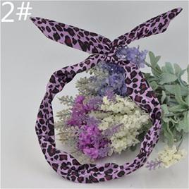Scarf Headband - Purple Leopard Print  No. 2