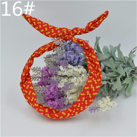 Scarf Headband - Red with Yellow  Spots  No. 16