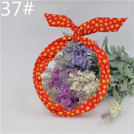 Scarf Headband - Red with Yellow  & white stars  No. 37