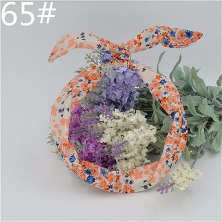 Scarf Headband - White &  Floral  No. 65