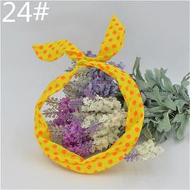 Scarf Headband -  Yellow  with Orange Spots  No. 24