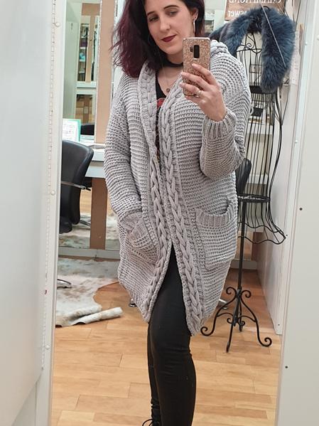 Scarlett Chunky Cardi - Grey
