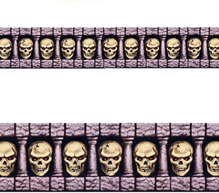 Scary skulls - border roll - 15m long!