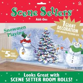 Scene Setter - Snowmen Playing