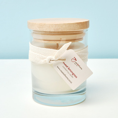 Scented soy glass tumbler candle