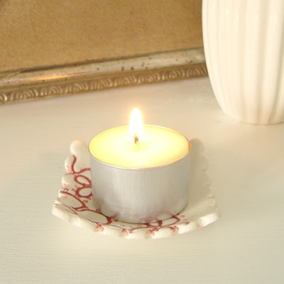 Scented soy tealight candle
