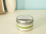 Scented soy tin candle