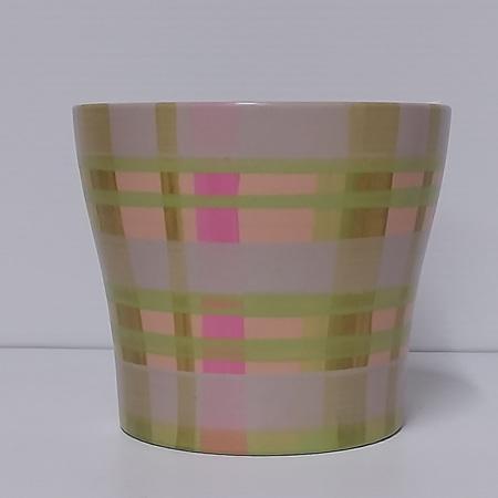 Scheurich green check pot C0023