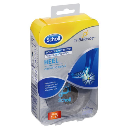 Scholl In-Balance Heel and Ankle Orthotic Insole Small