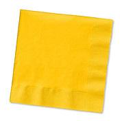 School Bus Yellow Beverage napkins x 20