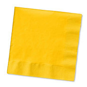 School Bus Yellow Beverage napkins x 20