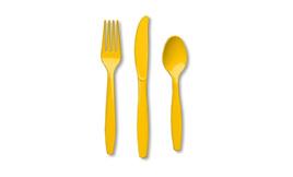 School Bus Yellow Cutlery Set
