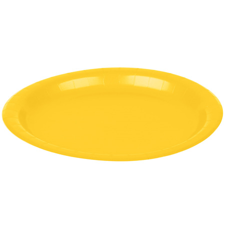 School Bus Yellow Dinner Plates - pack of 24