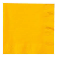 School Bus Yellow Lunch Napkins x 20