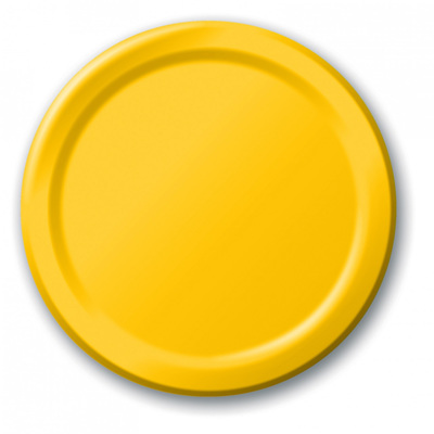 School Bus Yellow Lunch Plates x 24
