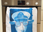 Scilly Billy Tea Towel - Blue