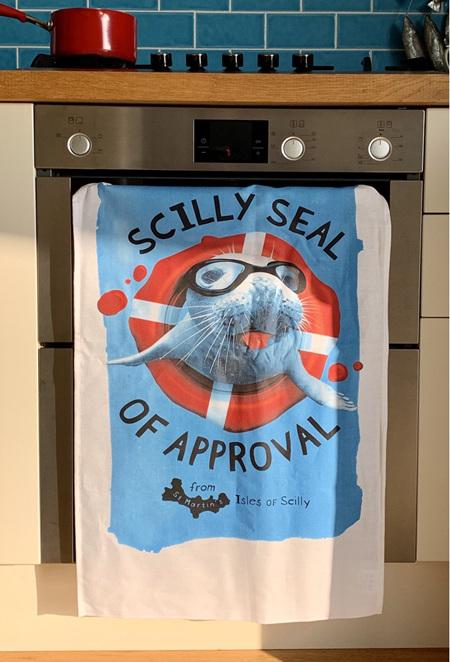 Scilly Seal Tea Towel
