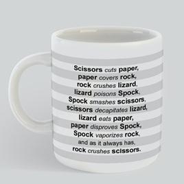 Paper Scissors Mug