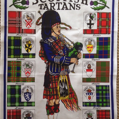 Scottish Tartans Tea Towel