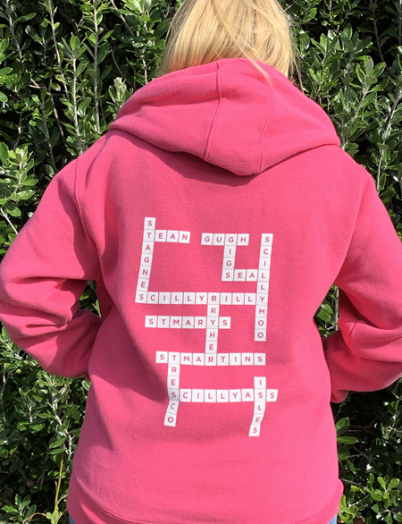 Scrabble Hoodie - Fuchsia Pink