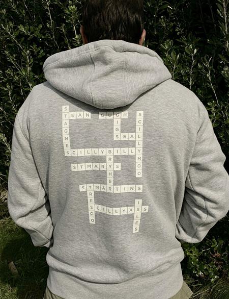 Scrabble Hoodie - Grey