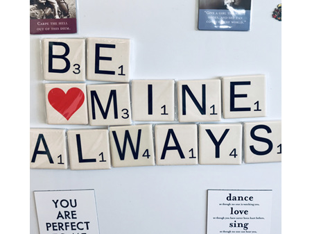 Scrabble Tile Magnets