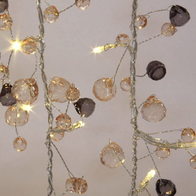 1.5m 10LED Coco Chic Crystal Battery LED Fairy Lights - Warm White