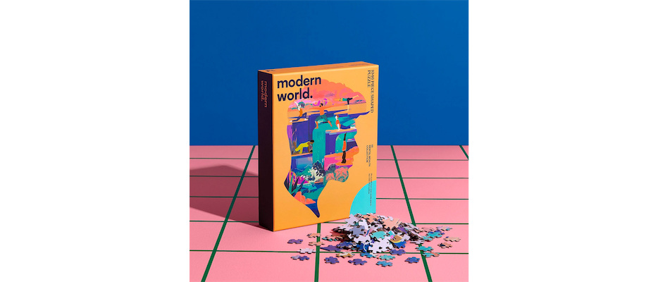 Modern World 1046 Shaped Mental Health Jigsaw Puzzle - Mindful  - Click image for more information