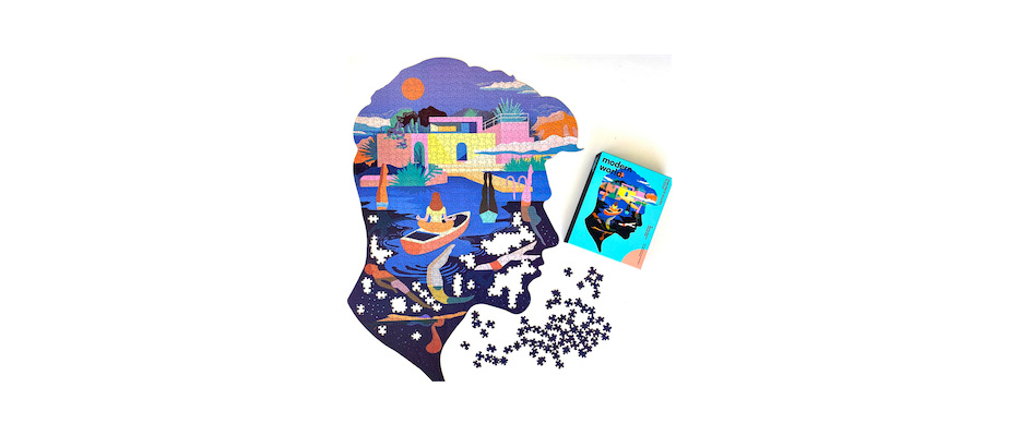 Modern World 1046 Shaped Mental Health Jigsaw Puzzle -Serenity - Click image for more information