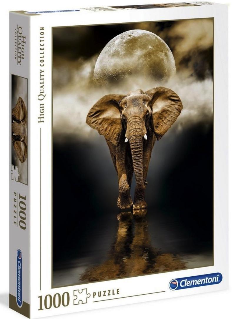 Clementoni 1000 Piece Jigsaw Puzzle: The Elephant