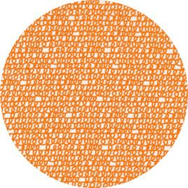 """""""Scribble"""" Orange, 100% Cotton Summer Weight"""