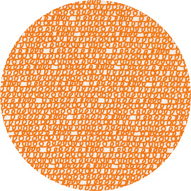 """Scribble"" Orange, 100% Cotton Summer Weight"
