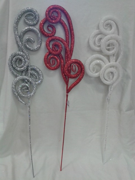 Scroll Branch Glitter - 3 colours to choose from
