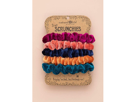 Scrunchie-Set of Five Velvet Brights