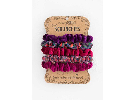 Scrunchies Mixed Set-Purple/Pink