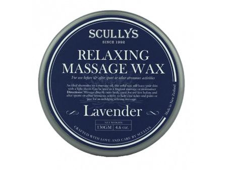 Scullys Lavender Relaxing Massage Wax 130g