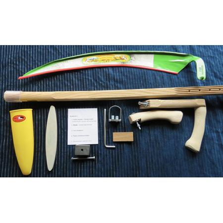 Scythe kit with plastic holder