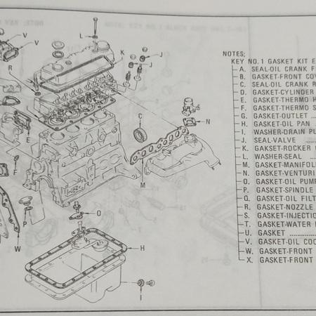 SD22 SD23 SD25 Gasket Diagram