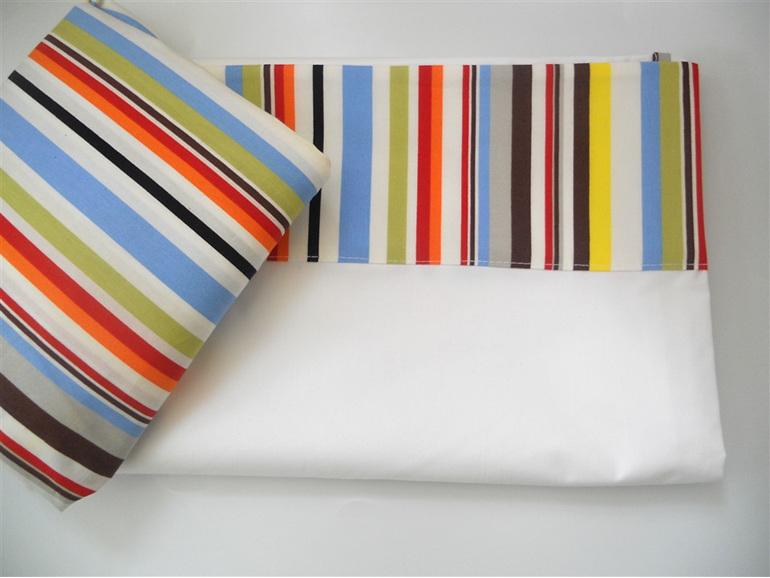 Sea Stripe Cot Sheet Set