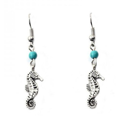 Seahorse Earrings - Silver Plated