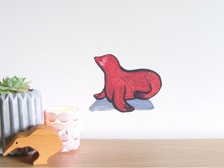 Seal wall decal